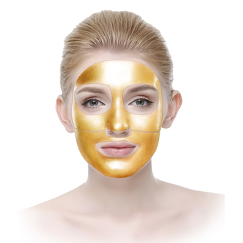 Private label 24k gold flakes leaf sheets firming brightening golf foil facial mask