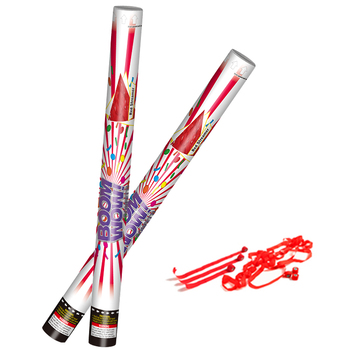 Boomwow New Arrival Red White Streamer 60cm 80cm Eco Friendly Confetti Cannon