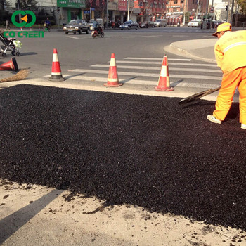 Go Green asphalt road pothole repair use cold mix asphalt for road repairing