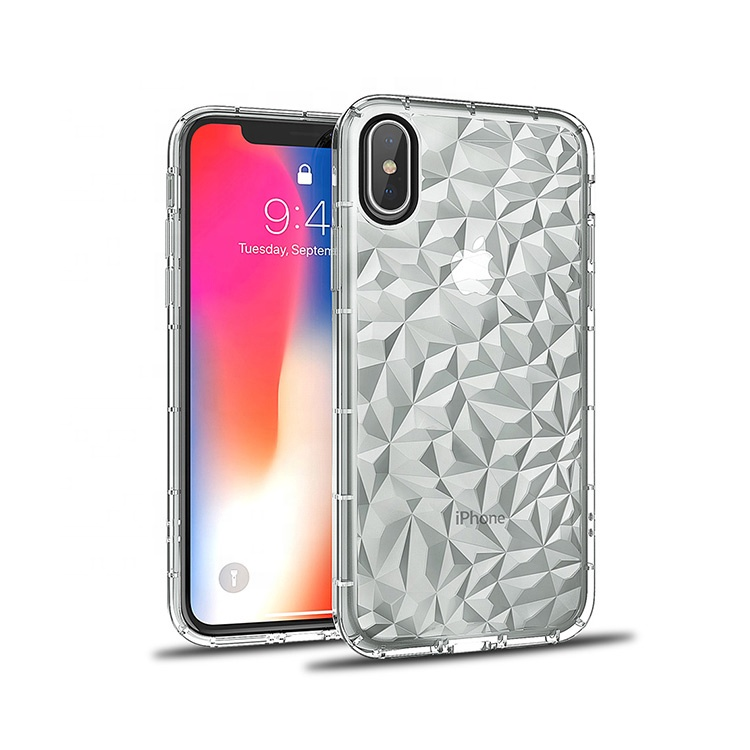 SAIBORO clear Shockproof diamond mobiele telefoon case voor iphone x case tpu roze in bulk, case voor iphone x 10 8 7 6