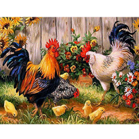Diy Diamond Painting Cock Full Drill Rooster Chicken Animal Diamond Embroidery Round Square Wall Art Decor