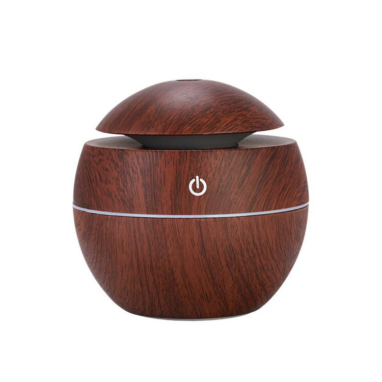 New design natural abs+pp 7 color led changing usb mini humidifier essential oil aroma humidifIer