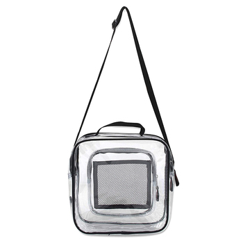 Clear Crossbody Bag Stadium NFL Approved Shoulder Bag Transparent Messenger Bag Adjustable Strap