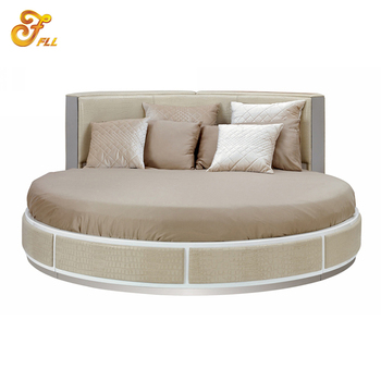 Custom Made Modern King Size Round Leather Bed Sets Luxury Bedroom  Furniture For Hotel Room - Buy King Size Round Bed Bedroom Furniture,Modern  Round ...