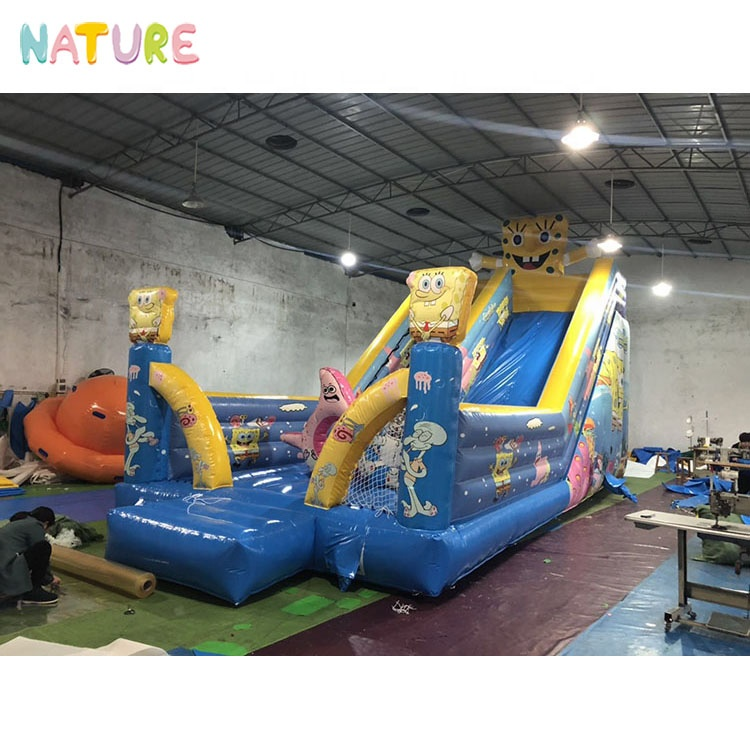 Cartoon style commercial jumping bouncer inflatable jumper slides for kids, Customized color