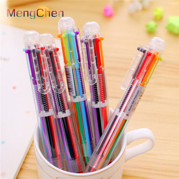 Brazil 2019 Advertising Promotional office supplies and stationery oem good quality custom cute multi color ballpoint pen 013