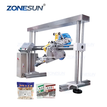 ZONESUN XL-T853 Automatic Flat Surface Cans Food Production Line Labeling Machine For Labeling Packing Bags Labeler
