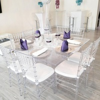 hot sale wedding party clear acrylic ghost resin chiavari chair