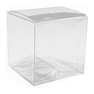 Wedding Party Favor Clear Plastic Cubes Tuck Top PVC Boxes