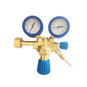 China factory Italy europe brass oxygen pressure regulator with gauge