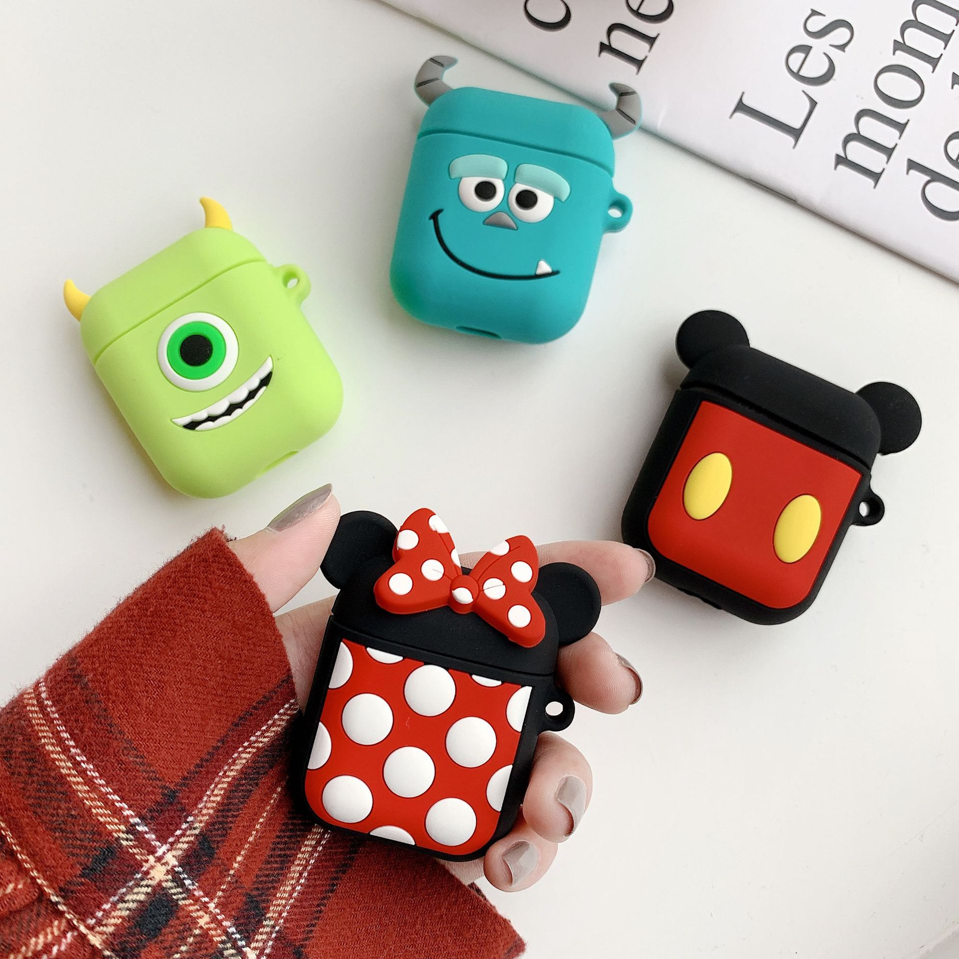 For Airpods Case 3D Cute Silicone Cartoon Airpods Charging Dock Cover фото