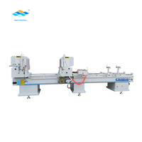 Jinan Hisena aluminum pvc upvc window making machine basic type double head miter saw cutting machine