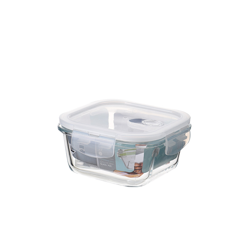 PUYE borosilicate glass food storage container with air vent-square for walmart