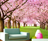 Excellent Quality Lowest Cost Cherry Blossoms Landscape Design Wallpaper Catalogue For Sitting Room