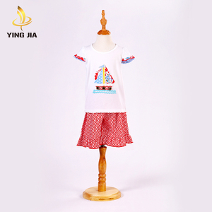 Customized size fashion comfortable kids lovely baby girl clothing set
