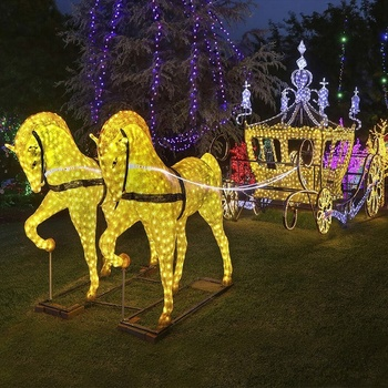 Outdoor Led Lighted Horse Cinderella
