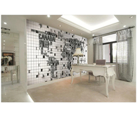 black and white design world map white button decoration wall 3d wallpapers