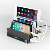 Shenzhen Sipolar 60W 6 port usb charger desktop charging station for multiple devices mobile phone C-306
