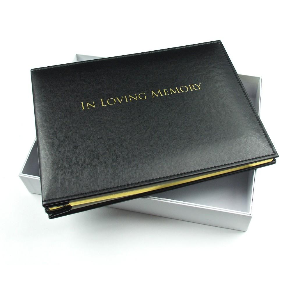 Чёрная кожа горячая золотая фольга прошивка Обложка секция сшитая книга для гостей книга на память с коробкой oem ПУ