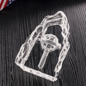 customer carving ice mountain crystal award glass trophy wholesale crafts