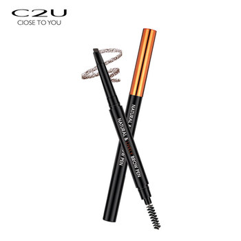 New customized natural vivid spiral waterproof multiple colour private label 3D eyebrow pencil