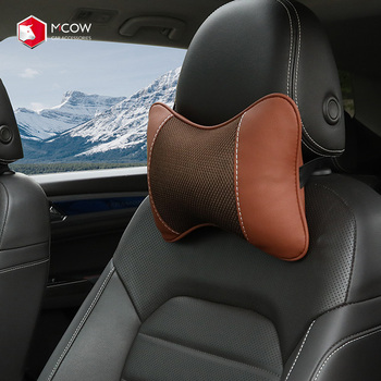 Breathe Car Neck Rest Pillow In Car Vehicle Auto Seat Head Neck Rest Cushion Headrest Car Seat Pillow Pad Used For BMW