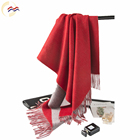 Fashionable and comfortable woman red two sided wool scarves shawl