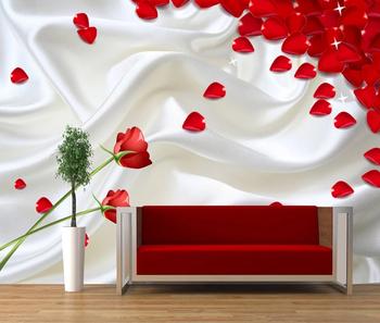 Romantis Mawar Kelopak Wallpaper Bunga Mawar Yang Indah Wallpaper