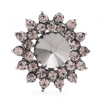 Factory Wholesale Small Clear Rhinestone Buttons Metal Crystal Glass Button Embellishments