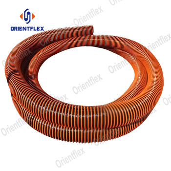 Corrugated diesel fuel unloading line truck fuel tanks suction tanker lorry hose suppliers for oil