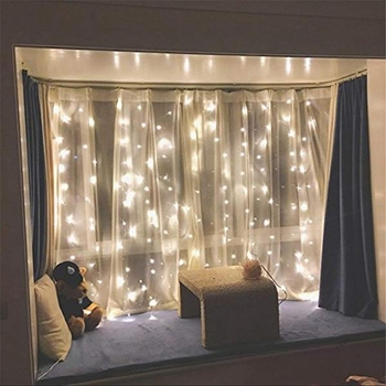 exclusive Fairy Lights Party Wedding Holiday christmas window curtain copper wire light