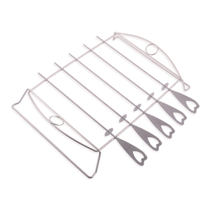 kebab grilling rack with skewer,barbecue skewer shish kabob set,stainless steel