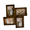 Custom shape rustic antique vintage wooden family 4 picture collage photo frame