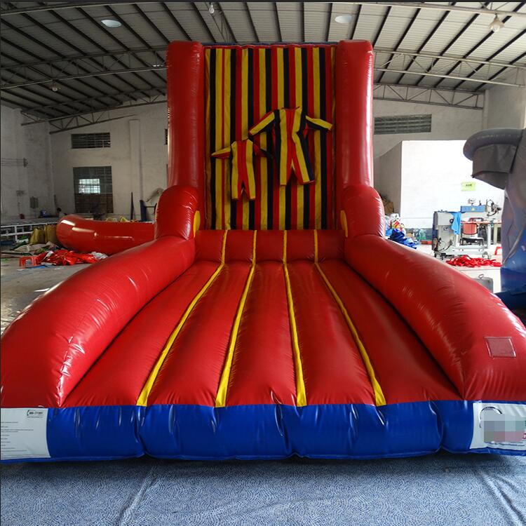Fashion Style Inflatable Wall Sticky Wall Including 2 Suits Jumping Sport Games Toys Customized Inflatable Stick Wall Kids And Adult Outdoor Fun & Sports Inflatable Bouncers