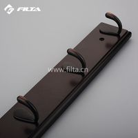 FILTA Hardware Decorative Bedroom Hardware Clothes Hanger Zinc Alloy Wooden Board Wall Mounted Coat Racks 6584
