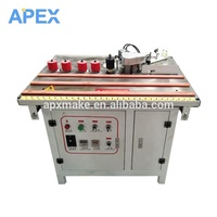 China PVC Portable Manual Edge Bander Curve And Straight Edge Banding Machine With Trimming