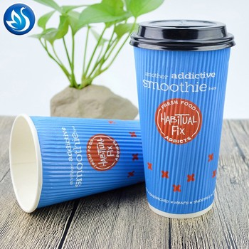 recycled single wall paper coffee cups,logo printed disposable paper coffee cups,ripple wall paper cup