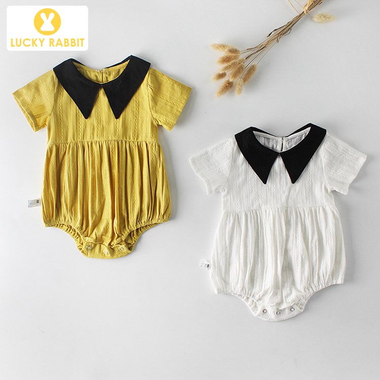 Korean Design Baby Romper Organic Cotton Linen Baby Romper Girl Designer Clothes Baby Romper Short Sleeve фото