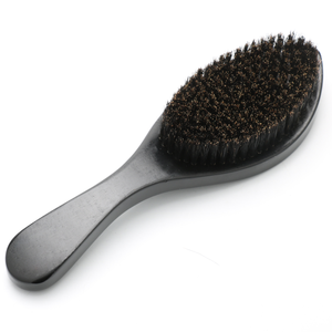 New Product Beech Wooden 360 Curved Wave black Brush Boar Bristle Paddle Hair Beard Brush