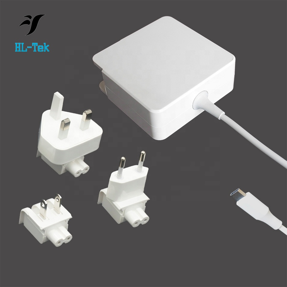 "Usb 3.1 USB-C 61 W Tipe C Charger Power Adaptor untuk Apple MacBook 12 ""Pro 13"" Laptop 20.3v3a"