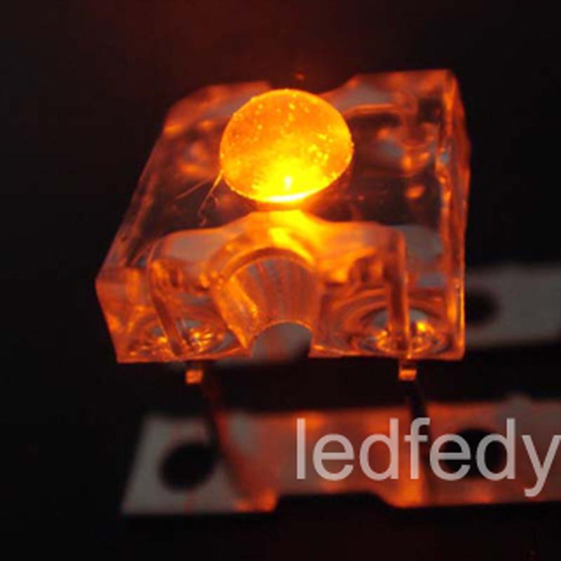 5 x Flat Piranha Orange Amber LED Light Super Bright LEDs Ultra 3mm 5mm Tail RC