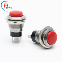stainless steel motorcycle t85 horn 12MM DS318 OF-(ON) momentary push metal button switch