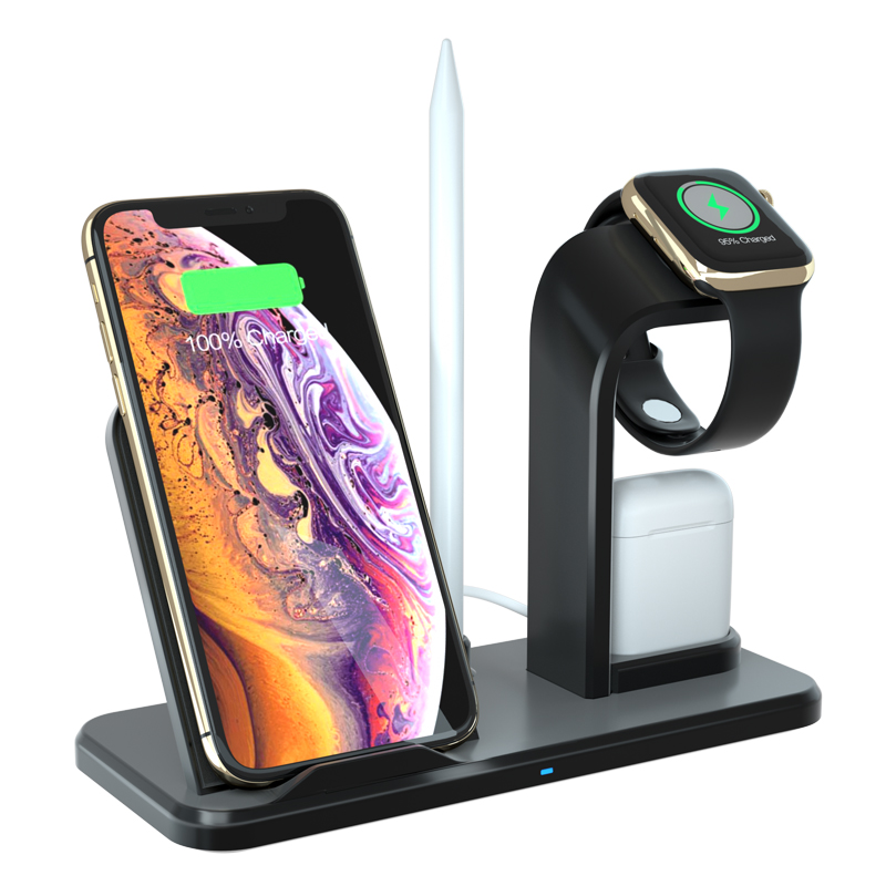 10W fast wireless charger N35 detachable 3 in 1 wireless fast charger phone holder wireless charger with CE,FCC,ROHS Certificate фото