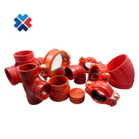 Ductile iron grooved pipe fitting flexible and rigid couplings for fire fighting