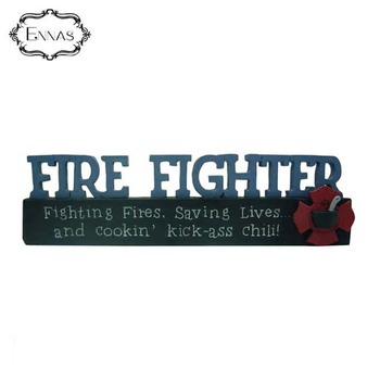 Fire Fighter Plaque Resin Handicraft for Firefighters as a Souvenir for Home Decoration Patches