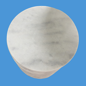 Factory sales polished round marble slab table top,marble counter top