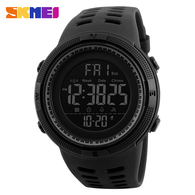 Skmei 1251 Brand Mens Sports Watches Dive 50m Digital LED Military Watch Men Fashion Casual Electronics Wristwatches Relojes