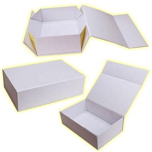 Free Design Rigid Collapsible Clothing Packaging Folding Paper Magnetic Gift Box