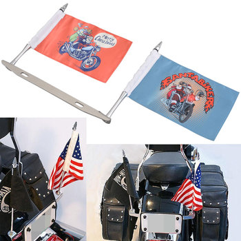 Christmas Santa License Plate Frame Mounted Holder+Flag Fits For Harley Yamaha Bobber Ultra Low Wholesale Price