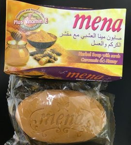 mena turmeric and honey herbal plus vitamin e mena beaury soap for acne skin